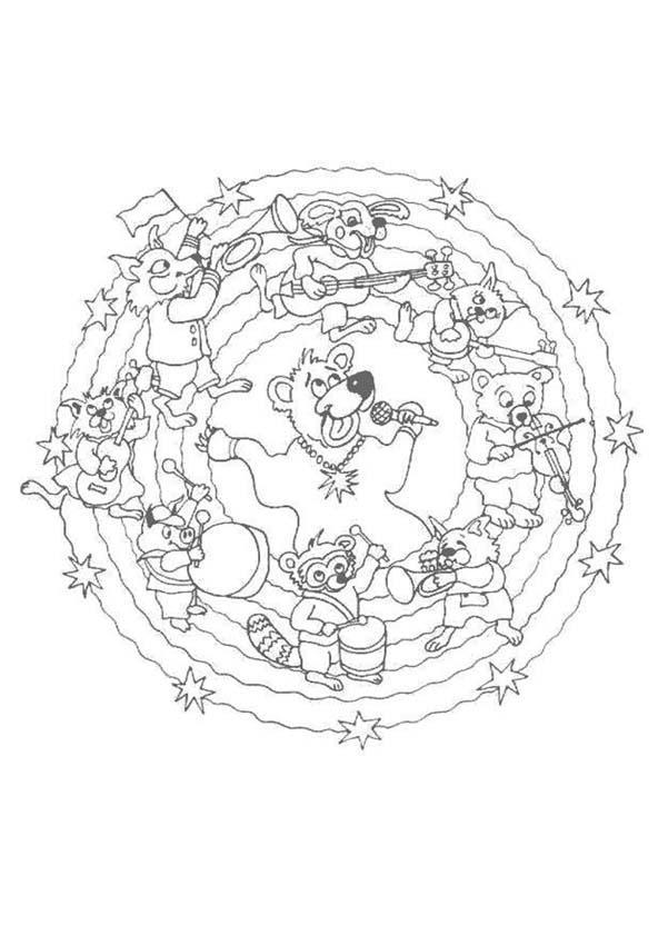 Mandala P worksheet