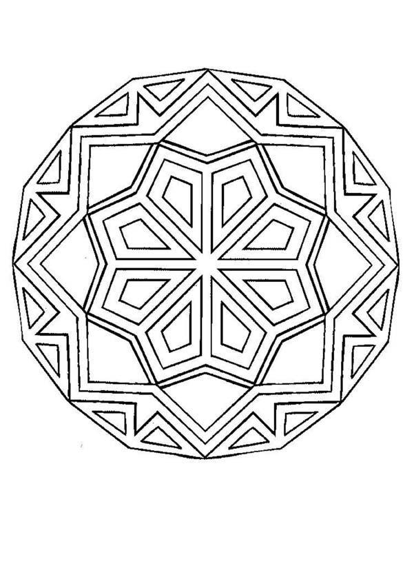 Mandala Q worksheet