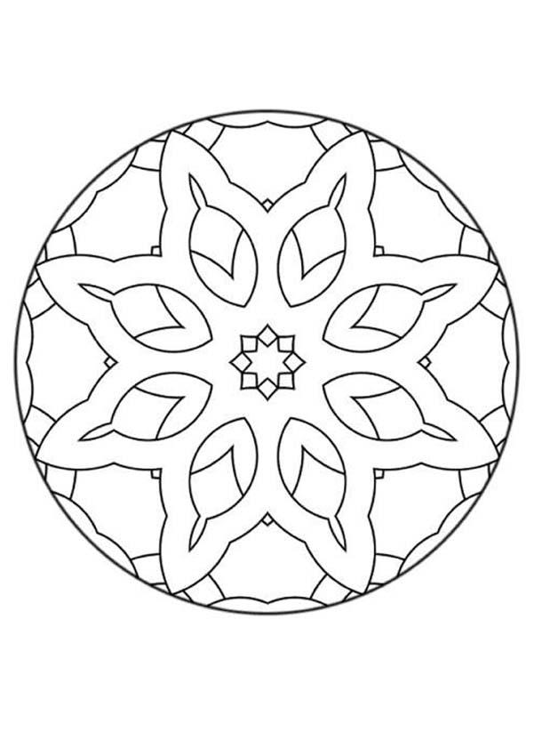 Mandala 28 coloring pages for Mandala coloring pages for beginners