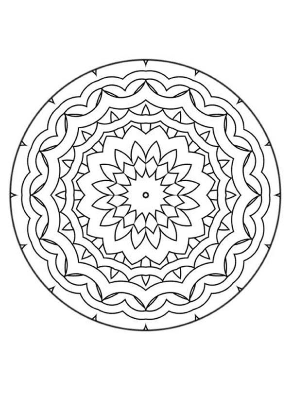 Mandala 30 coloring pages for Mandala coloring pages for beginners