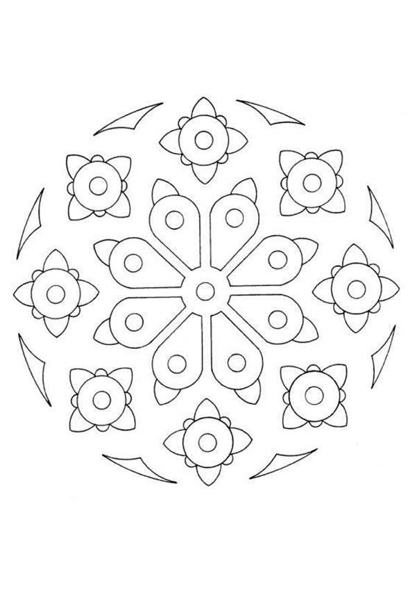 Mandalas for beginners mandala 35 for Mandala coloring pages for beginners