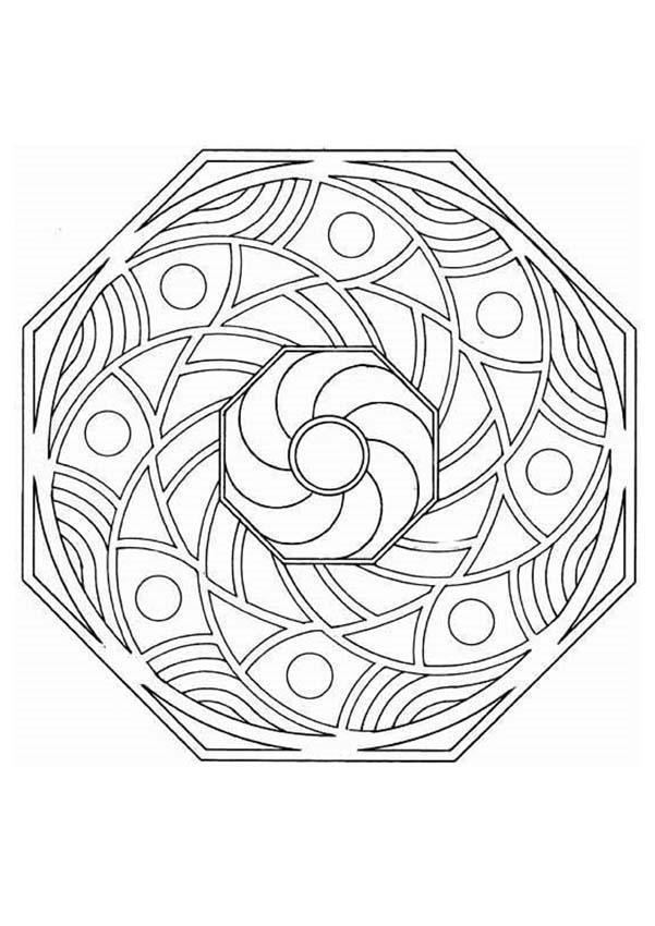 Mandala T worksheet