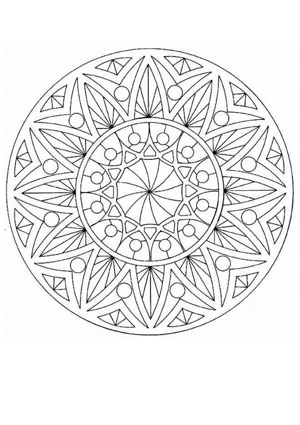 Mandala 13a coloring pages - Hellokids.com