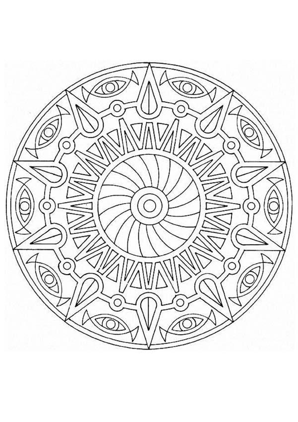 Mandala 17a coloring pages - Hellokids.com