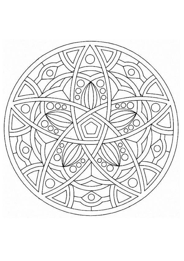 Mandalas For Experts Mandala 49 Expert Mandala Coloring Pages