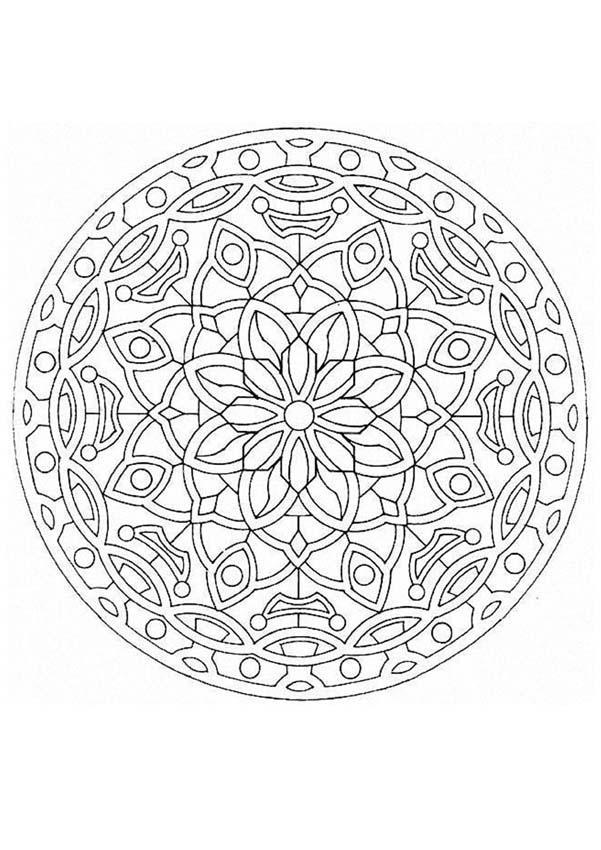 Mandala 20a Coloring Pages Hellokids Com