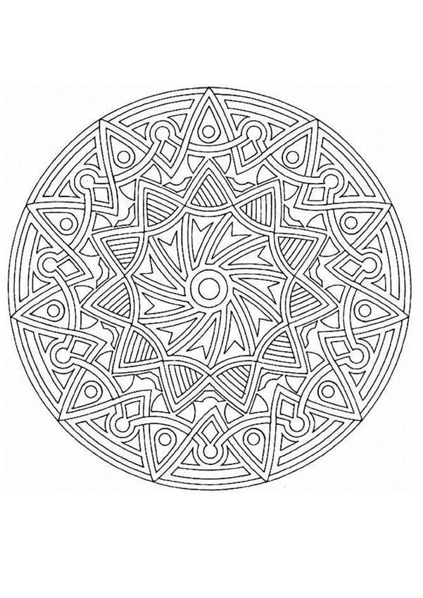 Mandalas For Experts Mandala 51 Expert Mandala Coloring Pages
