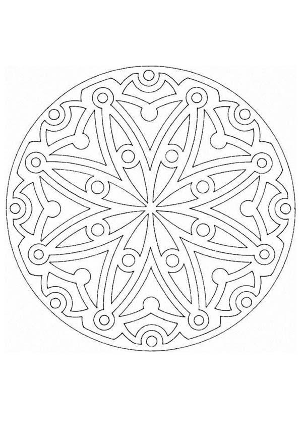 Mandala V worksheet