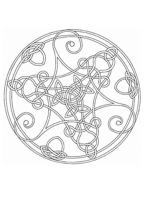 Mandala Z worksheet