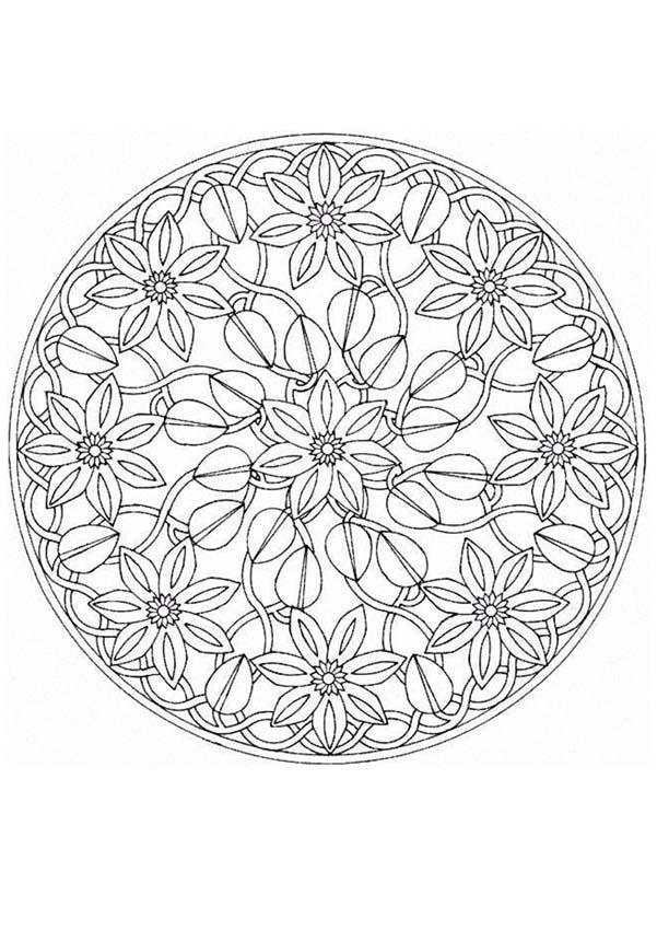 Mandala 11b coloring pages Hellokids