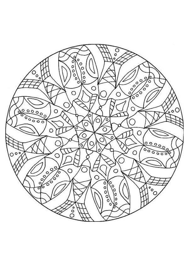 Mandalas For Experts Mandala 73 Expert Mandala Coloring Pages