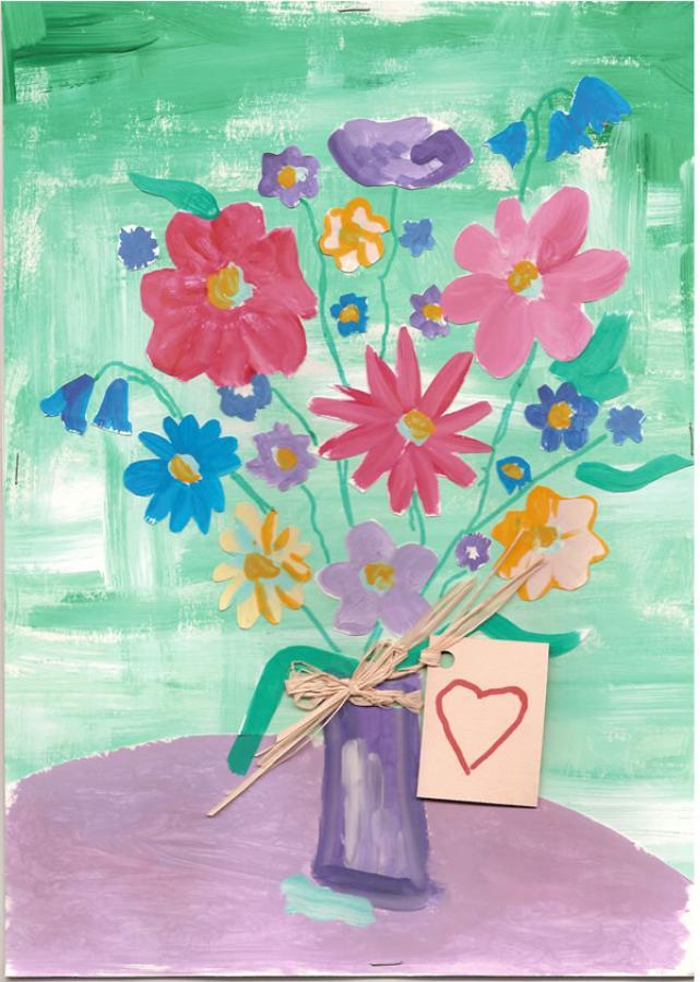 Beautiful flowers drawing