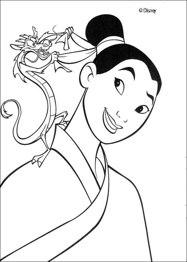 Mulan Coloring Pages 28 Free Disney Printables For Kids To Color Online
