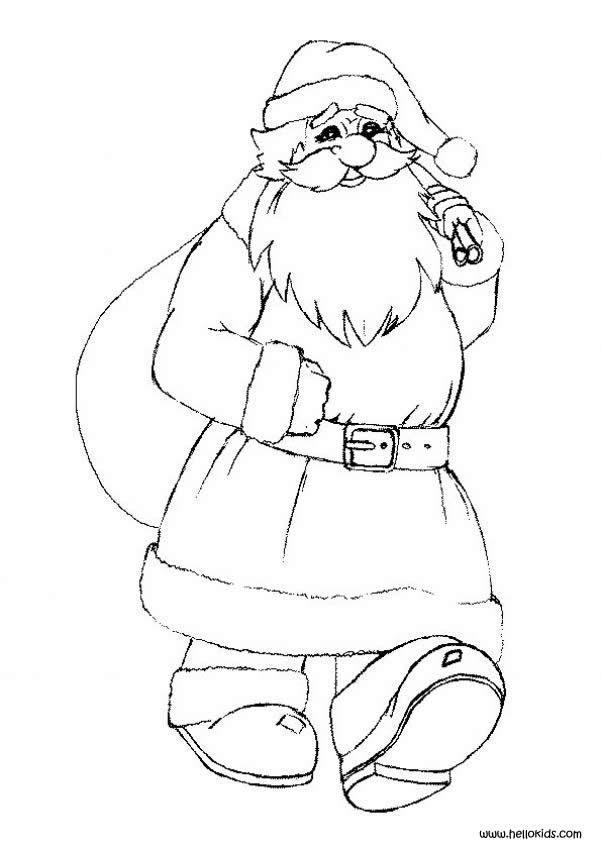santa claus vintage coloring pages hellokidscom