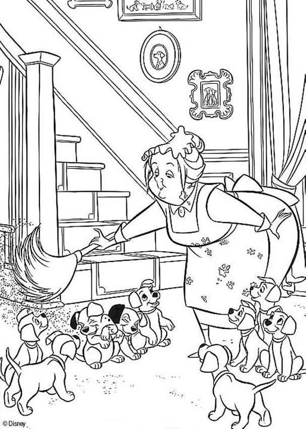 nanny 2 coloring pages hellokidscom