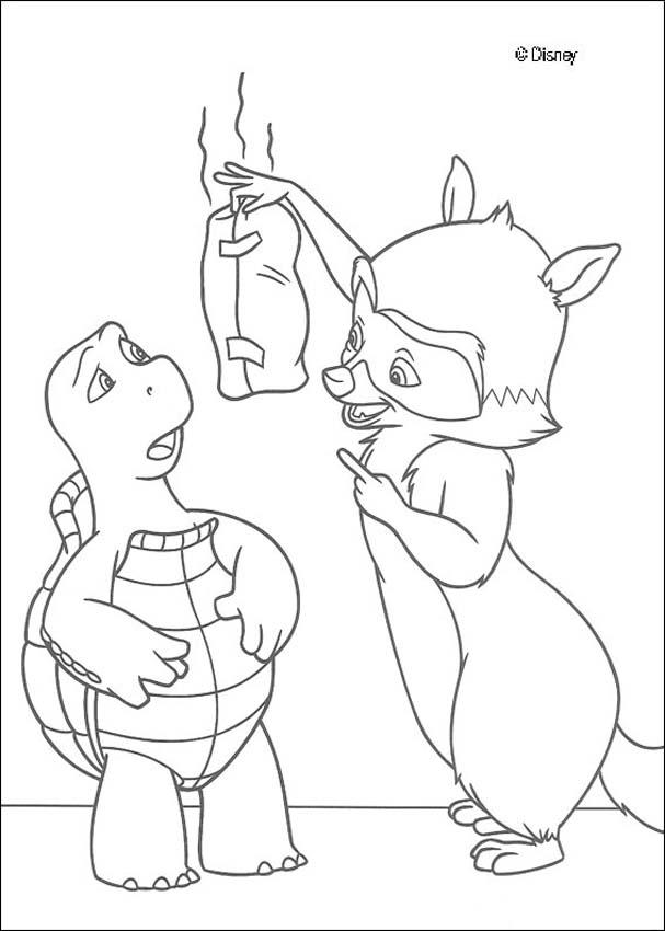 coloring pages over the hedge - photo#12
