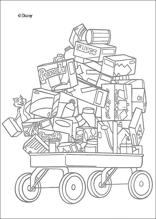 The food cart coloring pages for Grocery cart coloring page
