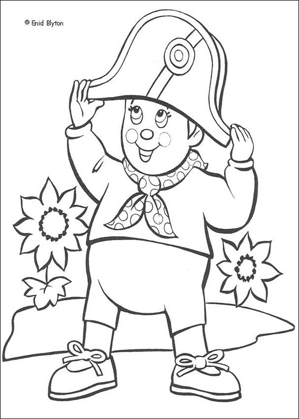 Noddy Wears Mr. Plod's Police Hat coloring page