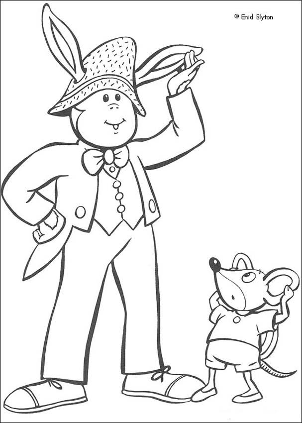 Bunkey and Clockwork Mouse coloring page