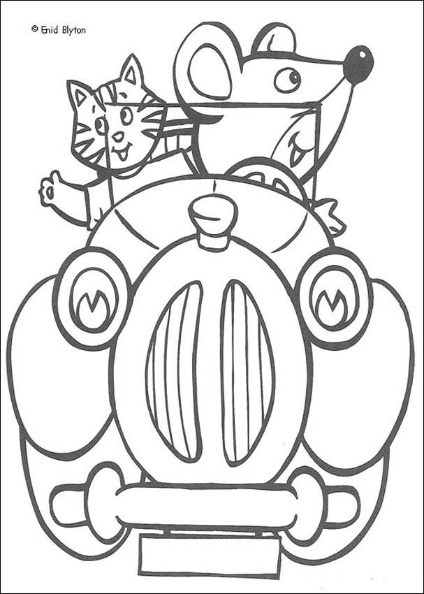Clockwork Mouse and Miss Pink Cat coloring page