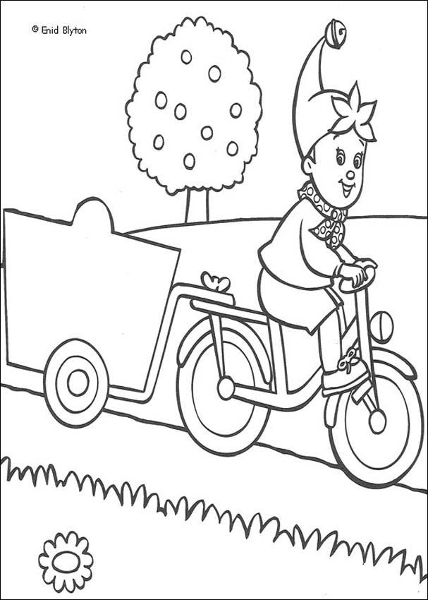 Noddy on a Bike Ride coloring page