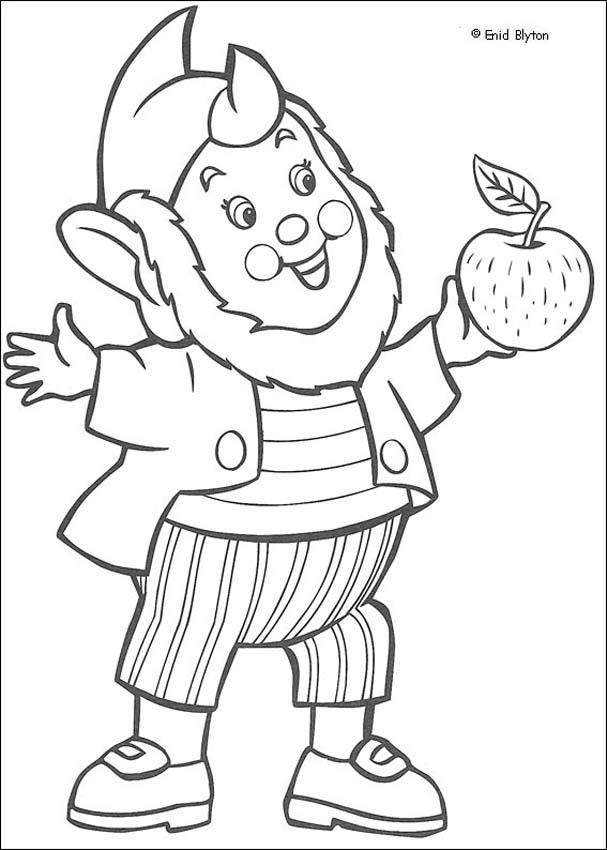 Big Ears Eats Apple coloring page