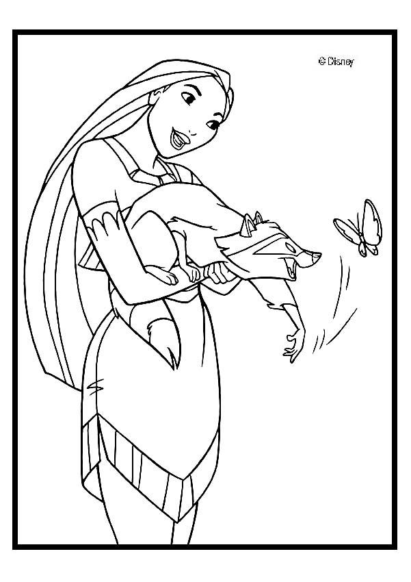 pocahontas and meeko coloring pages - photo#8