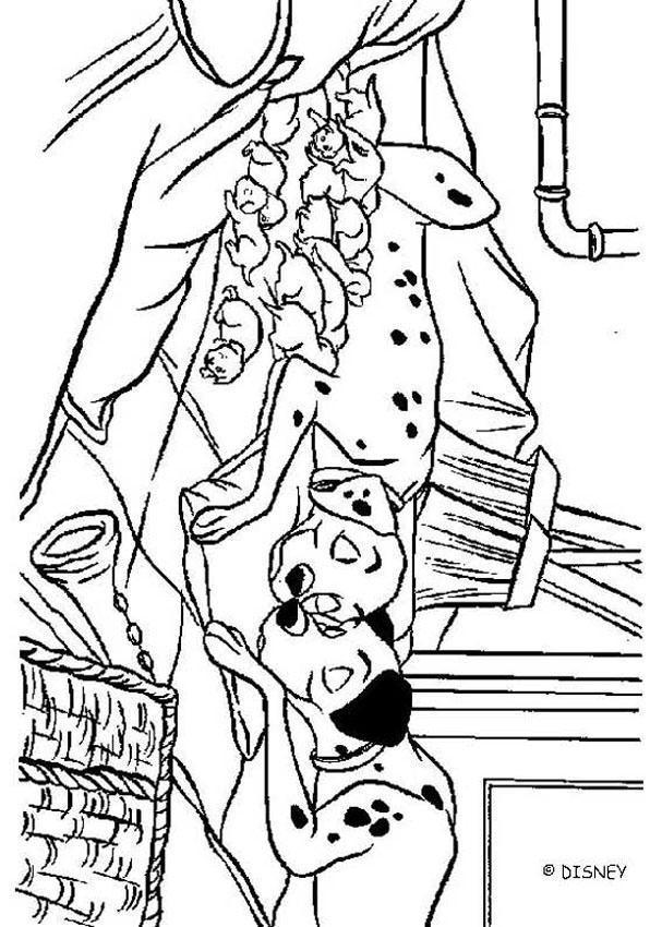 101 Dalmatians Coloring Pages Perdita And Pongo