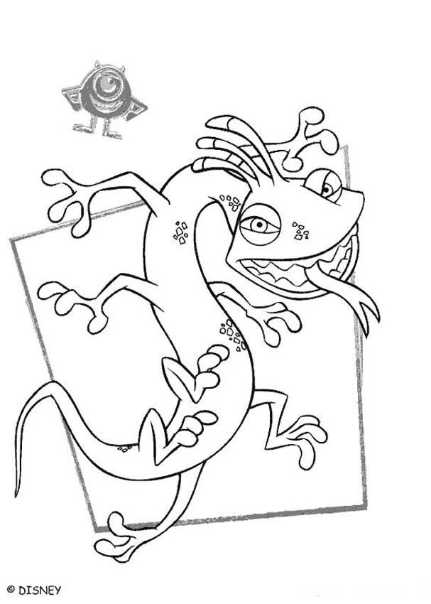Monsters inc coloring pages randall 1 for Monsters inc boo coloring pages