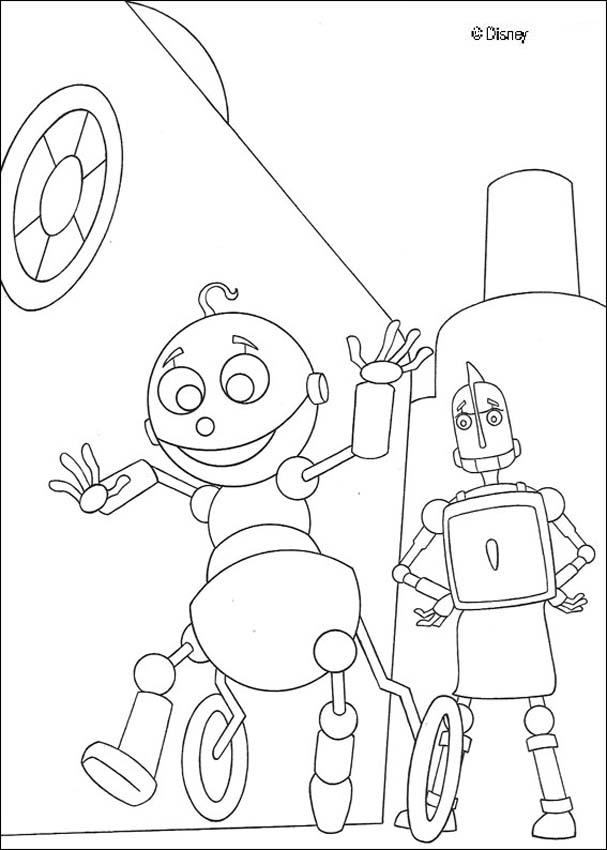 Rodney And A Baby Robot Coloring Pages Hellokids Com