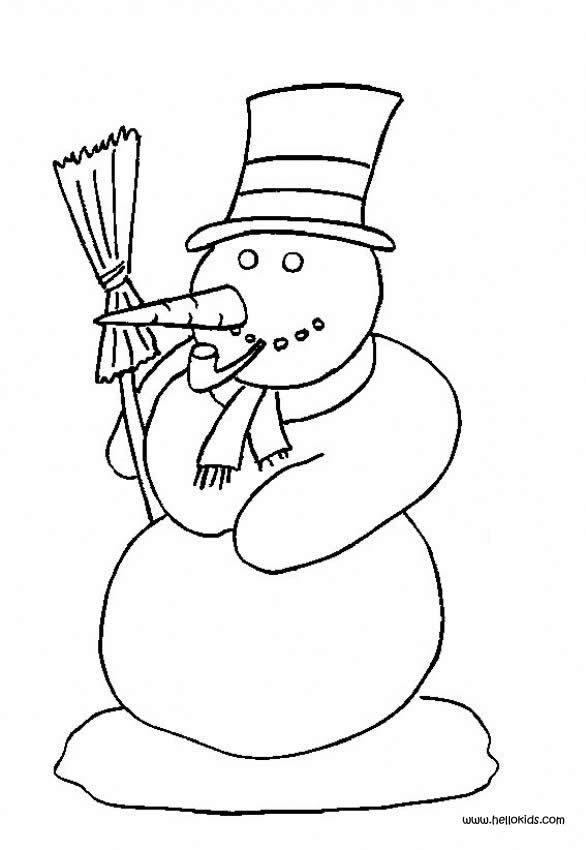 childrens coloring pages snowman shape - photo#2
