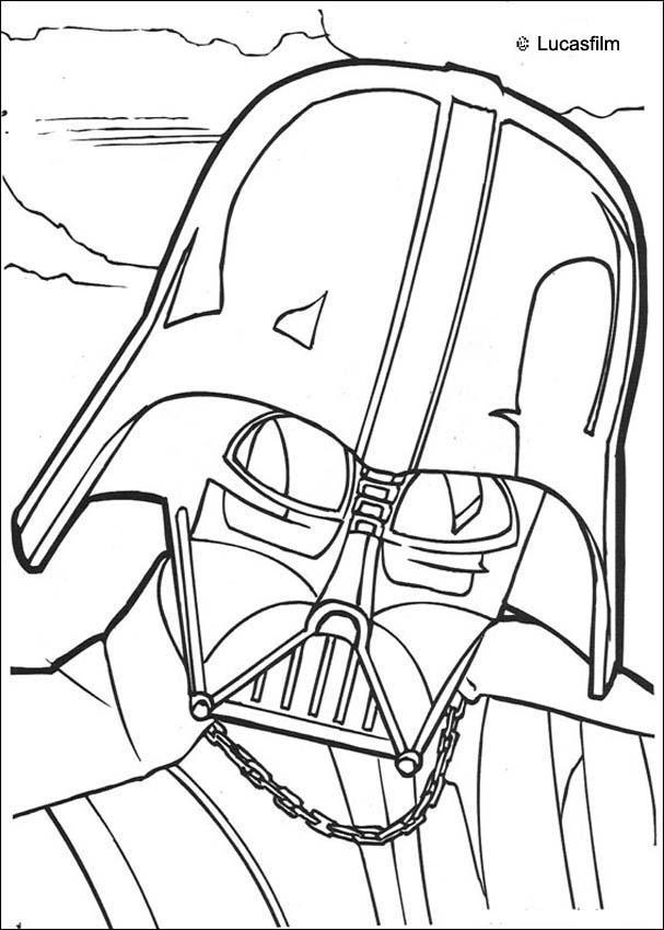Darth vader mask coloring pages - Hellokids.com