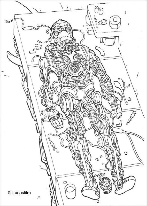 Robot c 3po coloring pages hellokids com