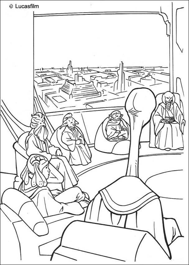 Star Wars Jedi Drawings Jedi Knights Coloring Page