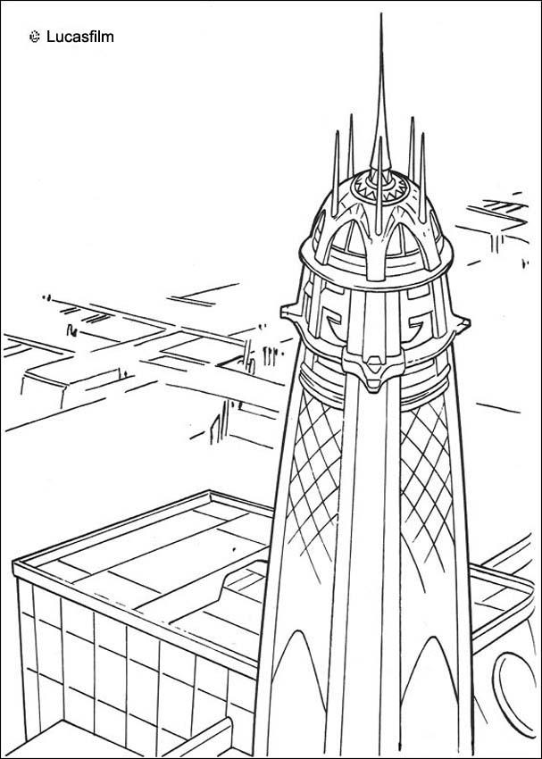 Jedi tower in Coruscant coloring page