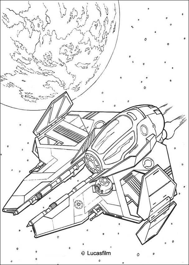 Spaceship of obiwan kenobi coloring pages Hellokids