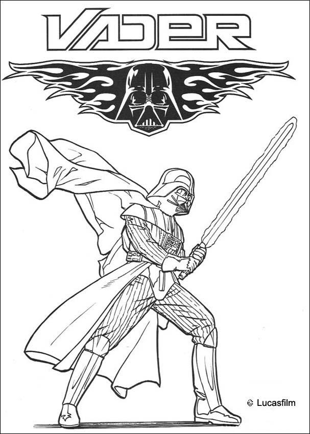 Darth Vader symbol coloring page
