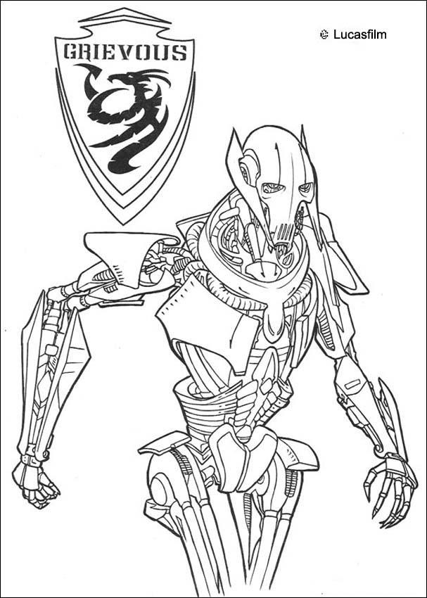 STAR WARS coloring pages - General Grievous