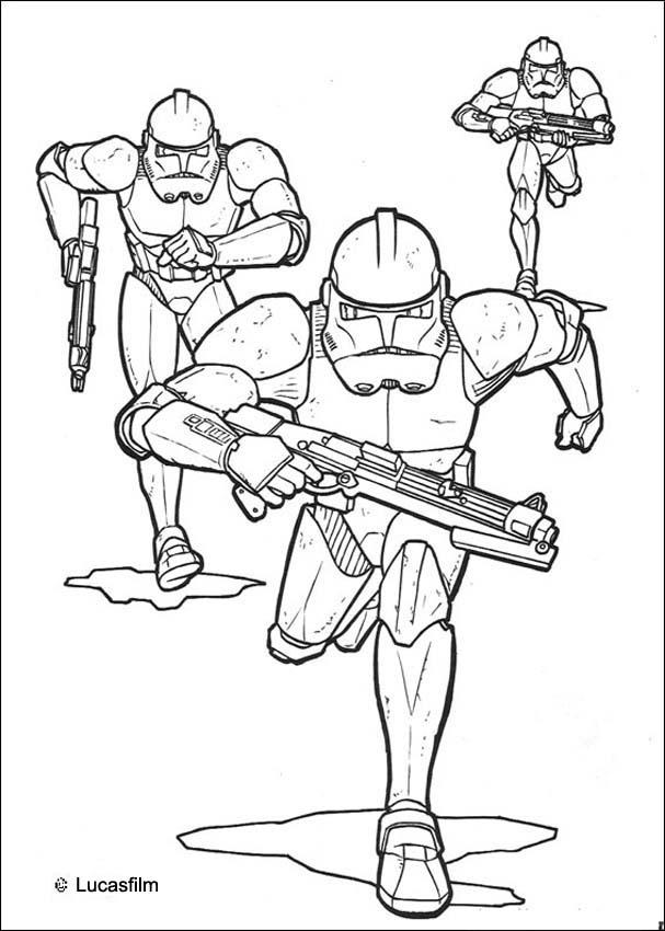 Emperor clone soldiers coloring pages - Hellokids.com