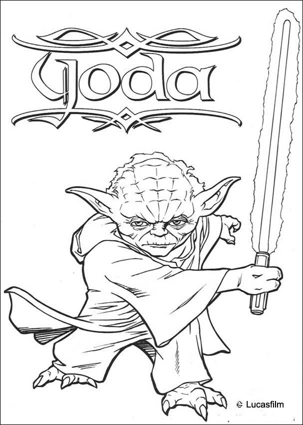 Master yoda coloring pages - Hellokids.com