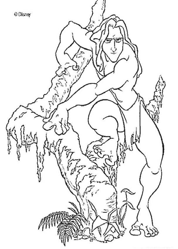 tarzan hunting coloring page