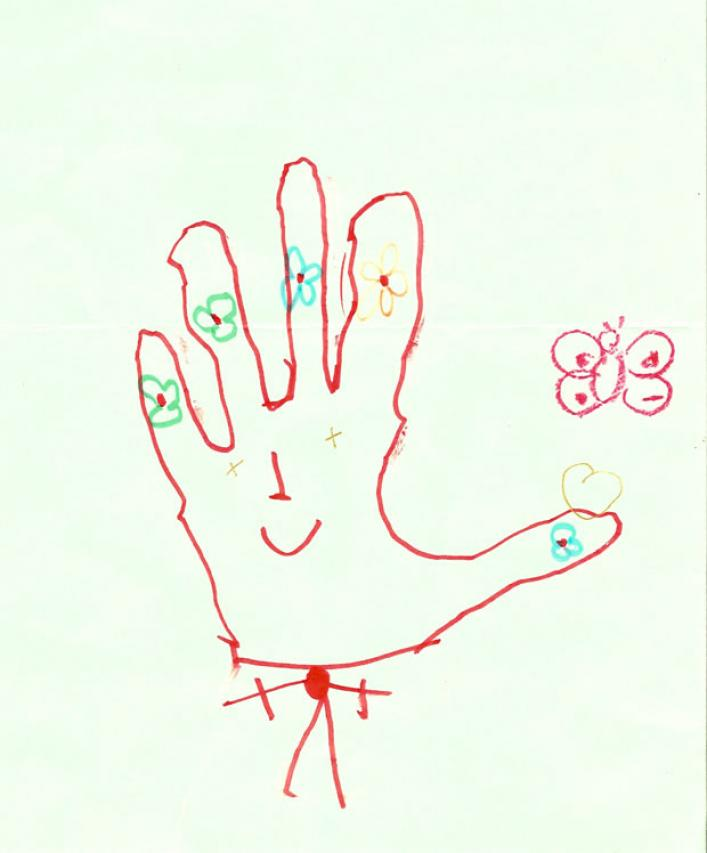 Happy Hand drawing