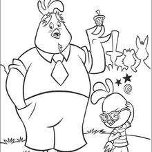 Chicken Little  4 - Coloring page - DISNEY coloring pages - Chicken Little coloring pages