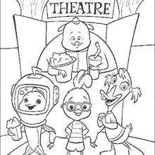 Chicken Little Says Goodbye Coloring Pages Hellokids Com