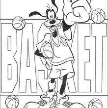 Dingo the winner - Coloring page - DISNEY coloring pages - Dingo coloring book pages