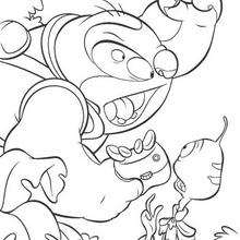 Lilo And Stitch Reading A Book Coloring Pages Hellokids Com