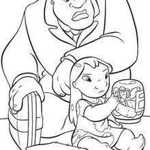 Lilo Stitch And A Mixer Coloring Pages Hellokids Com
