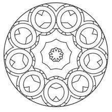 Mandalas for beginners mandala 41 for Mandala coloring pages for beginners