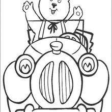 Bumpy Dog accompanies Noddy on his adventures coloring page