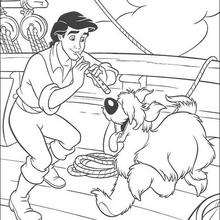 Prince Eric And His Dog Coloring Pages Hellokids Com
